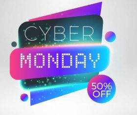 Cyber Monday sale with special offer labels vectors 09