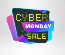 Cyber Monday sale with special offer labels vectors 10