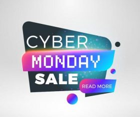 Cyber Monday sale with special offer labels vectors 11