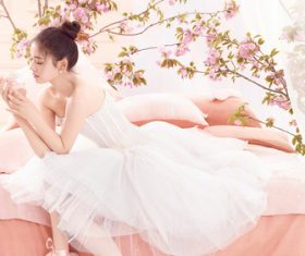 Dainty and charming girl Stock Photo 01