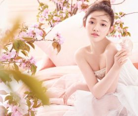 Dainty and charming girl Stock Photo 04