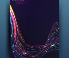 Dark blue brochure cover with abstract vector 03