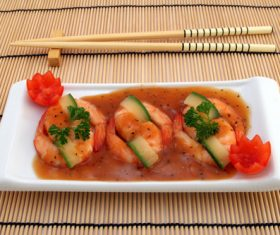 Delicious and nice Prown Sushi Stock Photo 01