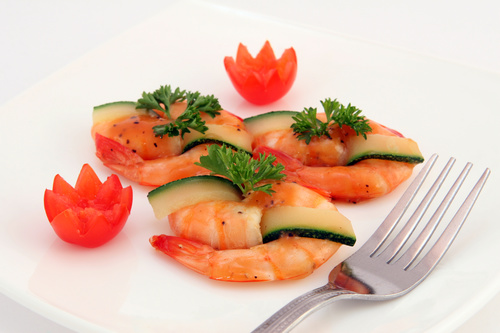 Delicious and nice Prown Sushi Stock Photo 02