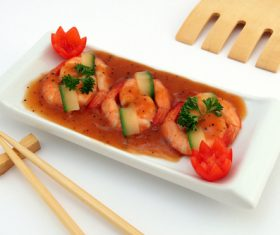 Delicious and nice Prown Sushi Stock Photo 04