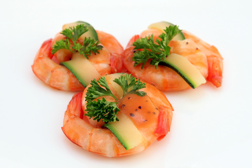Delicious and nice Prown Sushi Stock Photo 05
