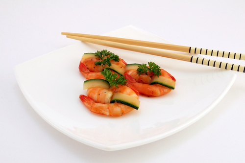 Delicious and nice Prown Sushi Stock Photo 06