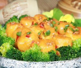 Delicious braised Japanese tofu Stock Photo 04