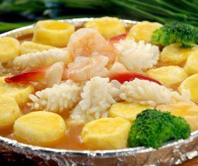 Delicious braised Japanese tofu Stock Photo 07