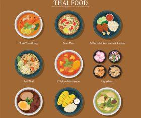 Delicious foods vector