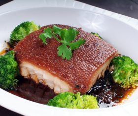 Delicious steamed pork belly Stock Photo 01