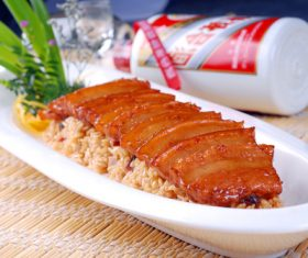 Delicious steamed pork belly Stock Photo 03