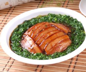Delicious steamed pork belly Stock Photo 04