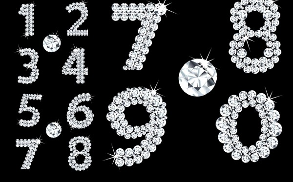 Diamond composition number vector