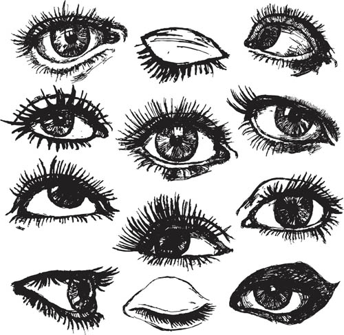 Different Girls Eyes 2 vector graphic