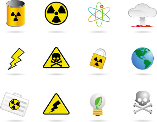 Different Hazard symbols and Icons 1 creative vector