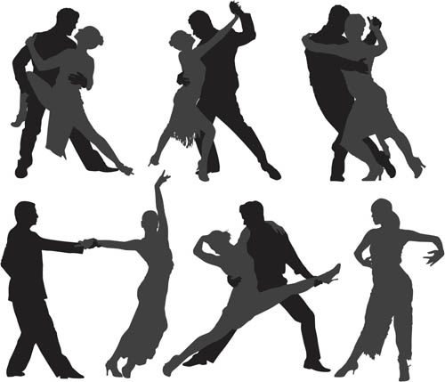 Different Tango silhouette 1 vector graphics
