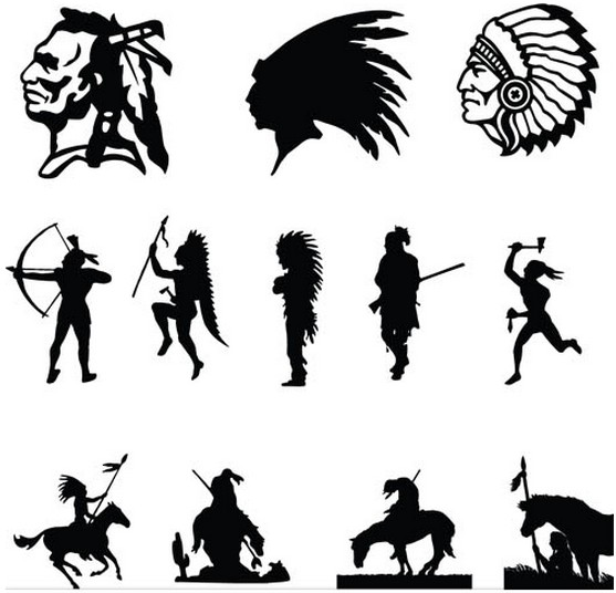 Different Wild West Icons shiny vector