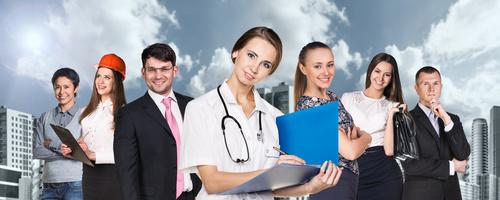 Different professional nurses businessman architect Stock Photo 01