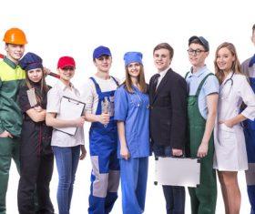 Different professional nurses businessman architect Stock Photo 02