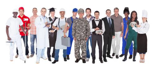 Different professional nurses businessman architect Stock Photo 03