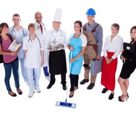 Different professional nurses businessman architect Stock Photo 04