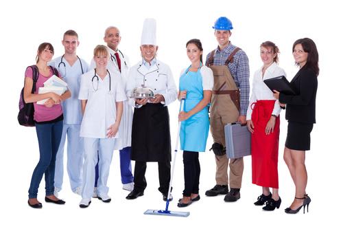 Different professional nurses businessman architect Stock Photo 05