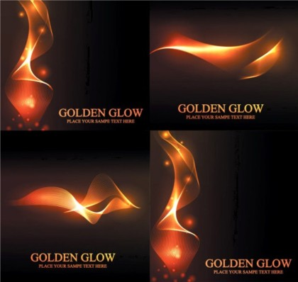 Dream golden dynamic background design vectors