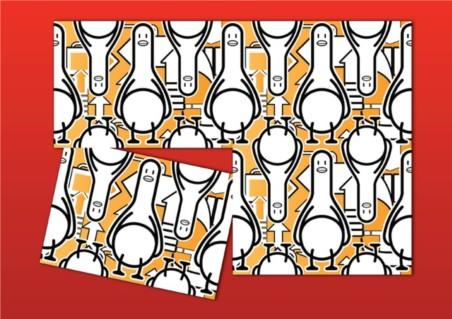Duck Cartoon Pattern design vector