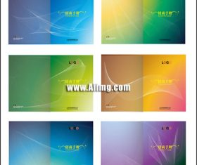 Dynamic line book cover design vector