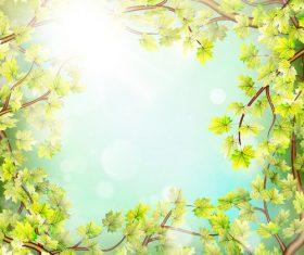 Elegant spring background art vectors 01