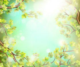 Elegant spring background art vectors 02