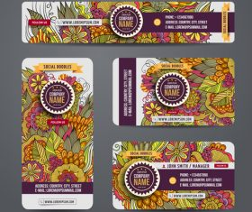 Ethnic ornaments banners with card template vectors 02