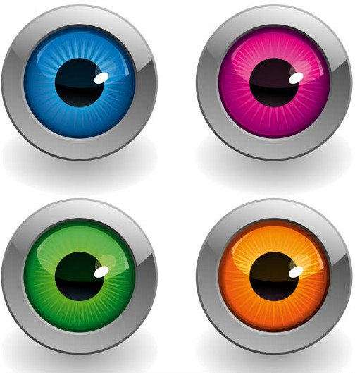 Eyes Icons graphic vector