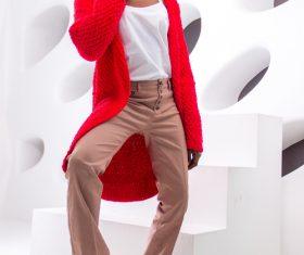 Female clothing model studio shot Stock Photo 01