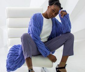 Female clothing model studio shot Stock Photo 03