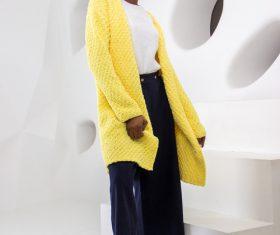 Female clothing model studio shot Stock Photo 06