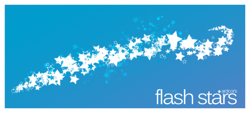 Flash Stars Photoshop Brushes