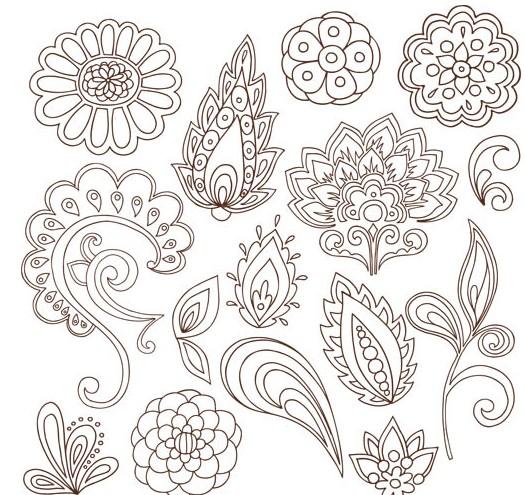 Floral Ornament Elements design vector