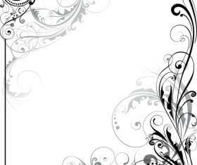 Floral design decor ornaments vector 02