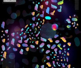 Fluid abstract elements design vector set 01