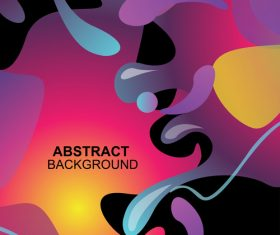 Fluid abstract elements design vector set 04