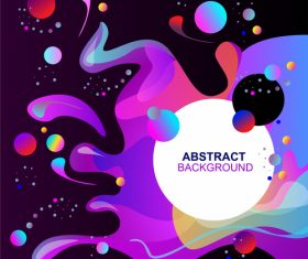 Fluid abstract elements design vector set 06