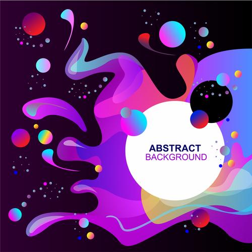 Fluid abstract elements design vector set 06
