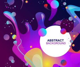 Fluid abstract elements design vector set 07