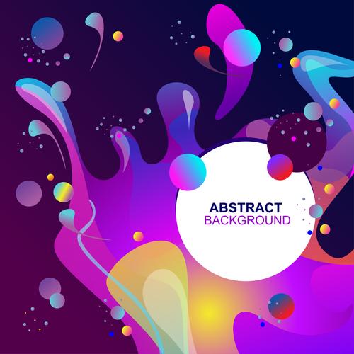 Fluid abstract elements design vector set 07