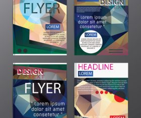 Flyer template abstract styles vector 14