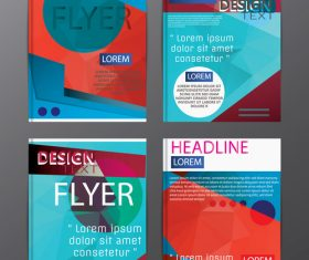 Flyer template abstract styles vector 15