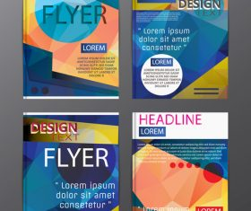 Flyer template abstract styles vector 16