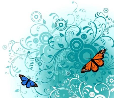 Free Butterfly Art vector